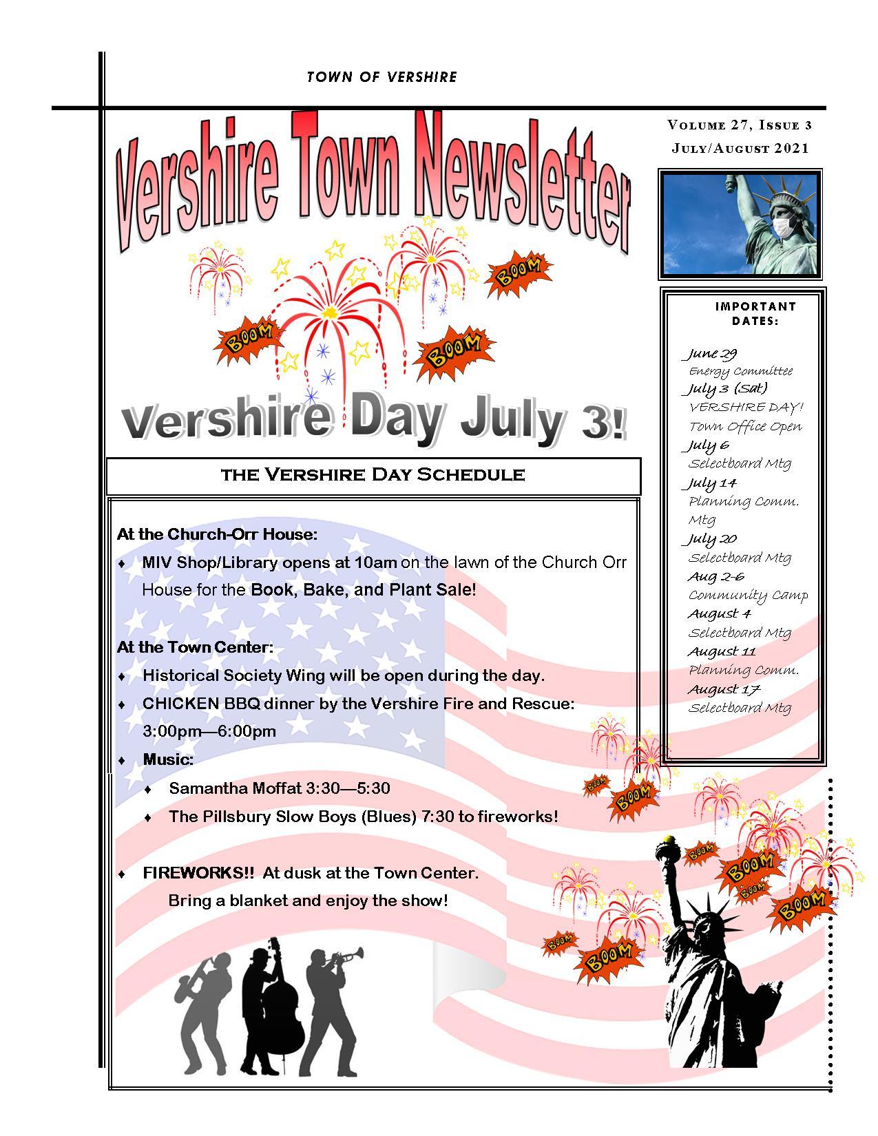 Vershire Day Schedule